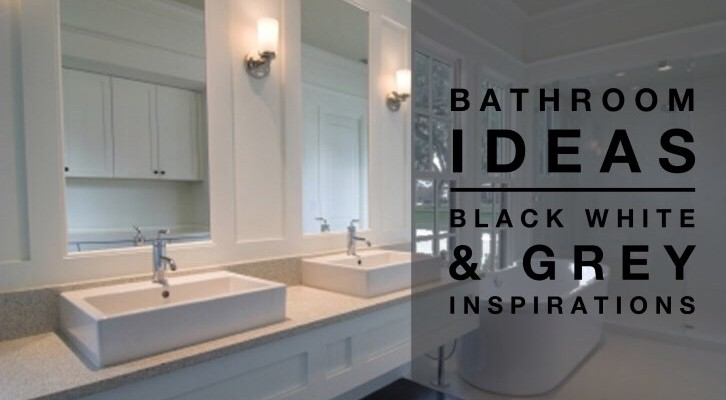 bathroom ideas black white grey colour palettedesign