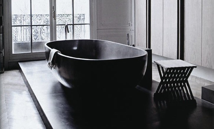 Black bath tubs an elegant statement the design library for Bathroom stuff for sale