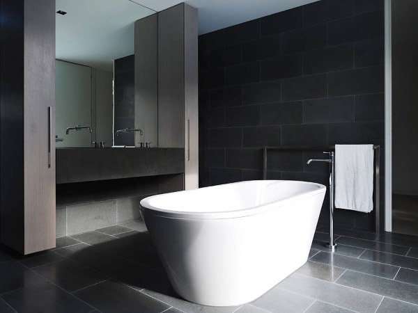 Bathroom ideas black white and grey bathrooms for Black bathroom designs