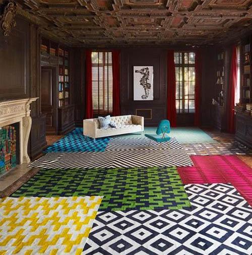 Coco Republic - Jonathan Adler Gio Kilim Rugs - Home Beautiful April 2015 - Interior Design Magazines - designlibrary.com.au