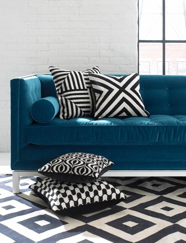 Coco Republic - Jonathan Adler Lampert Sofa - Home Beautiful April 2015 - Interior Design Magazines - designlibrary.com.au
