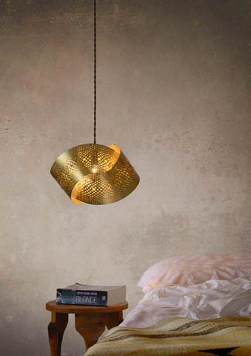 Reduxr - Crux Pendant - Stainless Steel Brass Copper - Home Beautiful April 2015 - Interior Design Magazines - designlibrary.com.au
