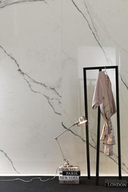 Skheme Timeless Statuario White Porclain Tile - Home Beautiful April 2015 - Interior Design Magazines - designlibrary.com.au