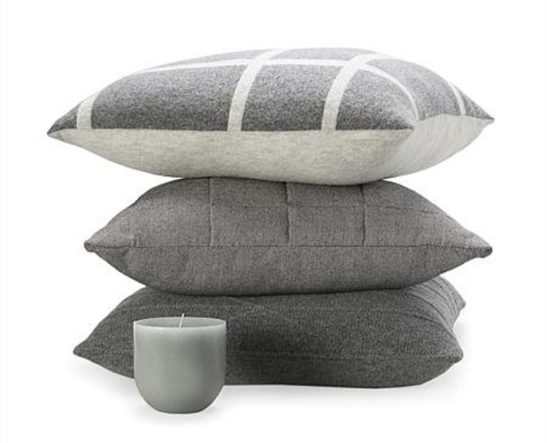 Country Road - Cubus Checked Cushions in Grey - Interior Design Magazines - www.designlibrary