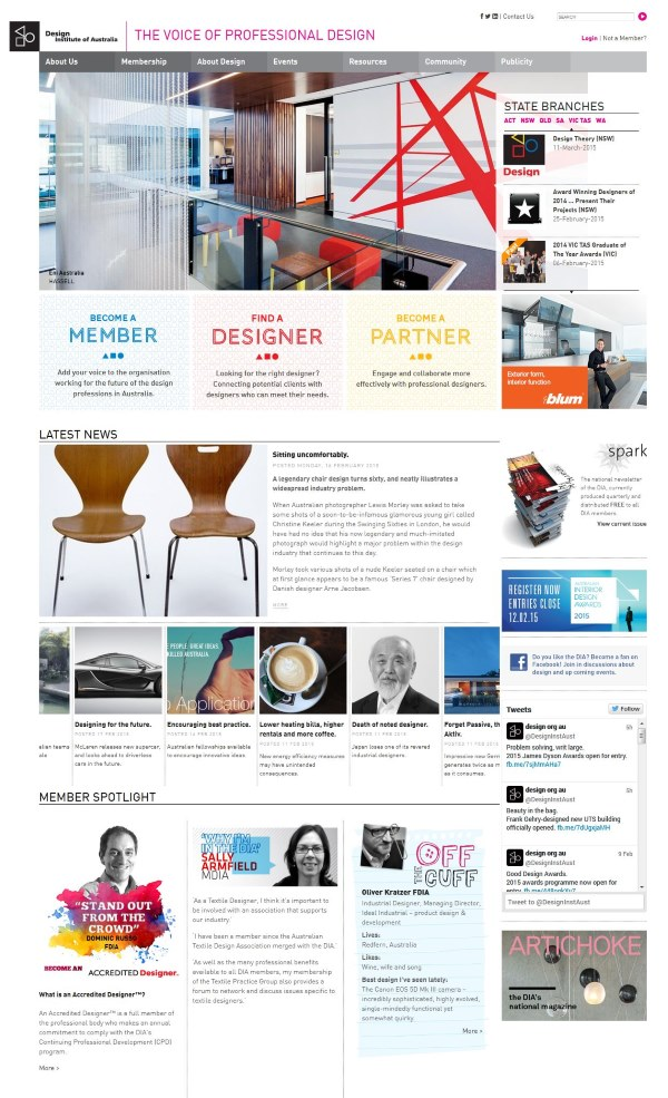 Design institute of australia interior design and reno for Designer directory