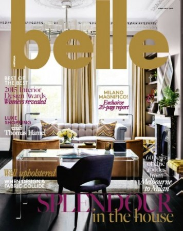 Belle Magazine June July 2015 - Interior Design Magazines   |  designlibrary.com.au