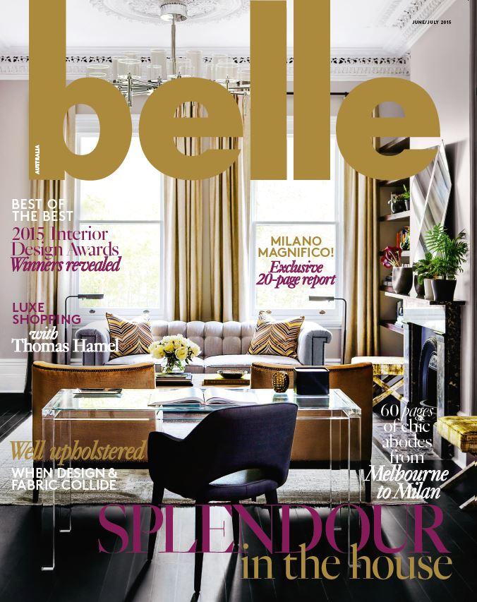 Interior design magazines belle june july 2015 for Interior design magazine