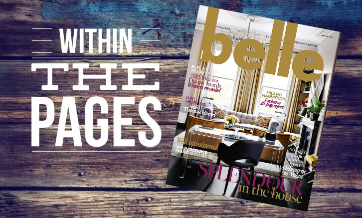 Design Library AU - Within The Pages Interior Design Magazines - Belle June July 2015 | designlibrary.com.au