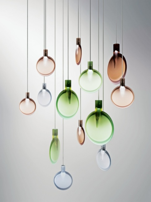 Sebastian Herkner for Fontana Arte 'Nebra' suspension light - Interior Design Magazines | designlibrary.com.au