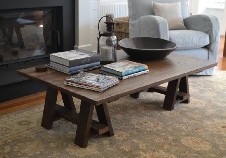 Rabbit Trap Timber - Trestle Coffee Table | designlibrary.com.au