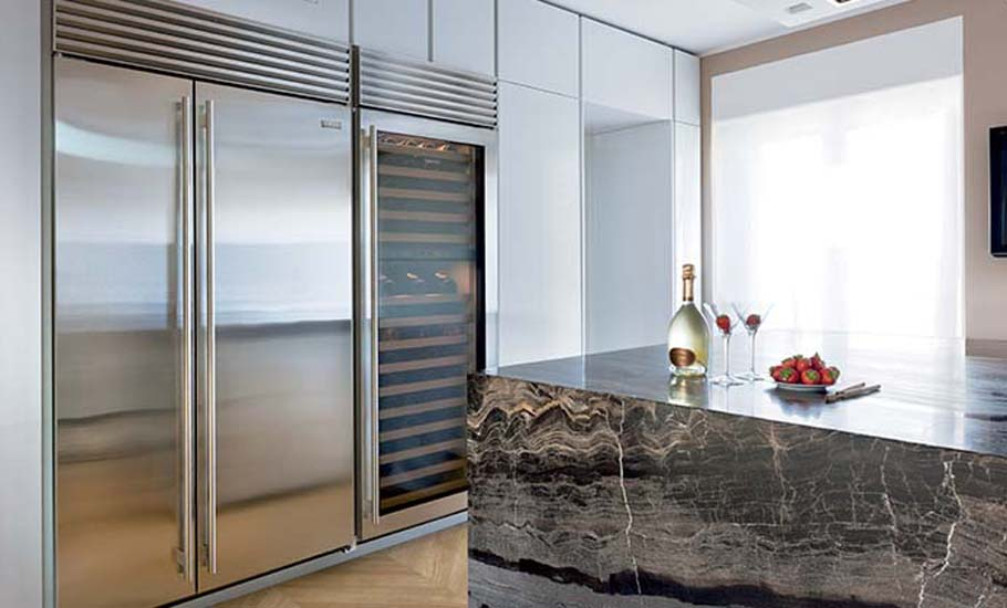 Sub Zero Wolf - Side By Side Refrigeration - Belle Magazine Aug - Sep 2015 | designlibrary.com.au
