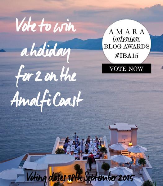 Vote to win - Amalfi Coast - Amara Interior Blog Awards | designlibrary.com.au