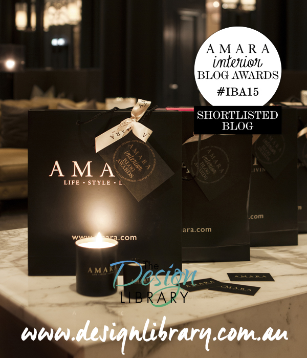 Amara Interior Blog Awards - The Design Library AU Shortlisted - Best Australian Interiors Blog