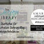 Amara Interior Blog Awards - The Design Library AU Shortlisted - designlibrary.com.au