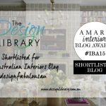 Amara Interior Blog Awards - The Design Library AU Shortlisted - designlibrary.com.au