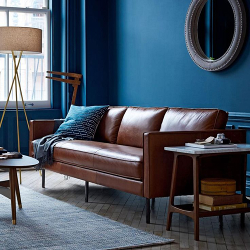 West Elm Axel Leather Sofa | designlibrary.com.au