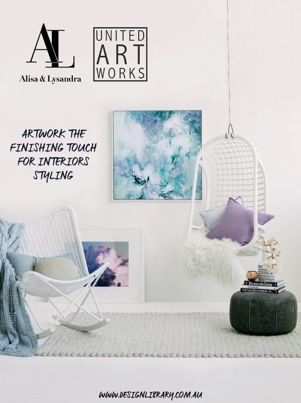 Alisa and Lysandra + United Artworks Artwork Collaboration | designlibrary.com.au