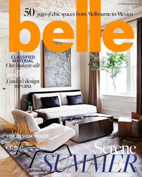 belle magazine december january 2015 16 interior design magazines designlibrarycom - Popular Interior Design Magazines