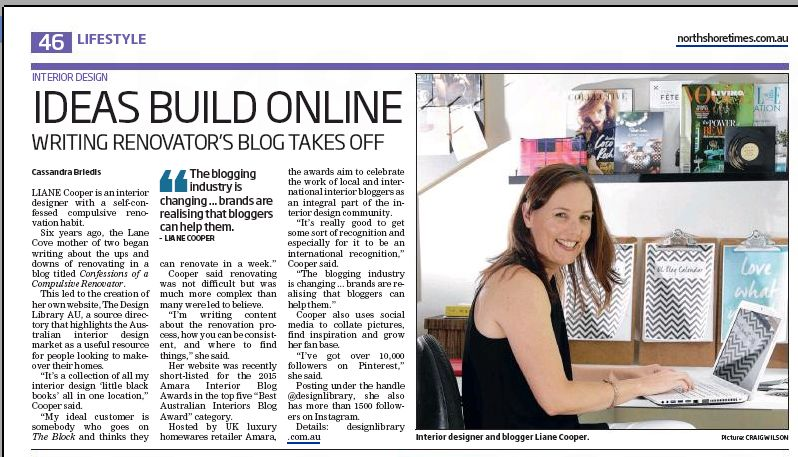 North Shore Times - Friday 6th November 2015 - The Design Library Ideas Build Online