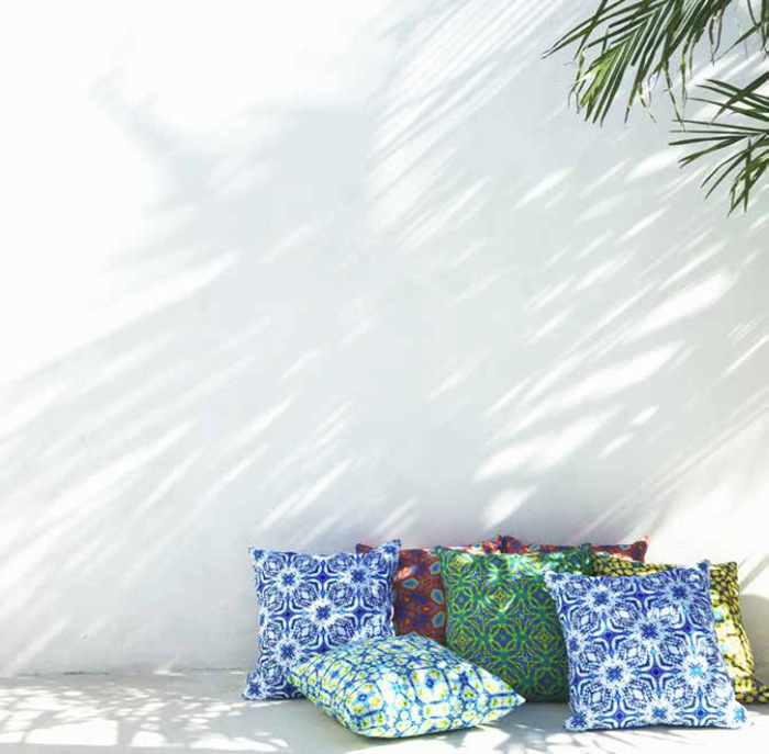 Moteef Outdoor Cushion Colourful Cushions - Photographer Mon Palmer | designlibrary.com.au