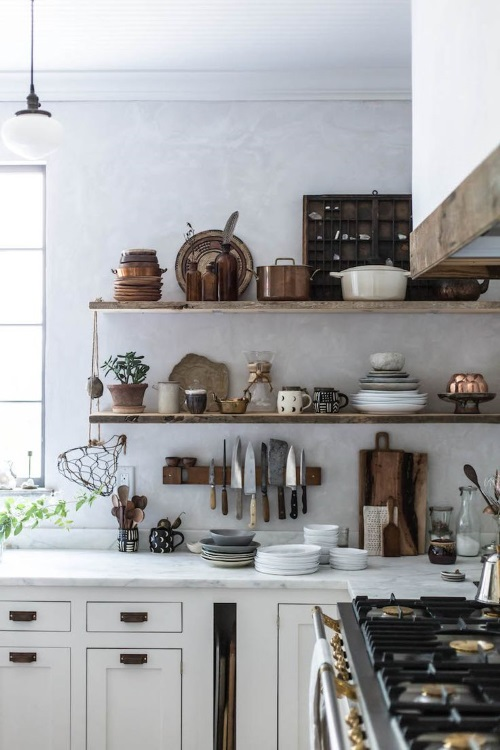 Kitchen Makeovers - Open Shelving Jersey Ice Cream Co | designlibrary.com.au