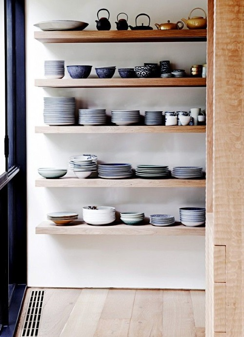 Kitchen Makeovers - Open Shelving Robin Boyd Bridge House - Photo By Lisa Cohen | designlibrary.com.au