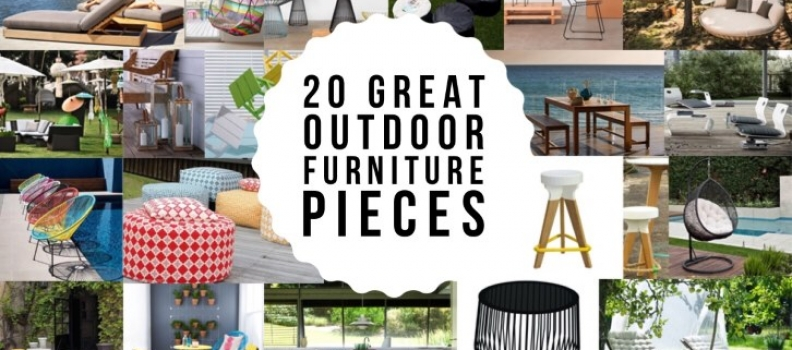 Outdoor Living: 20 Pieces of Outdoor Furniture