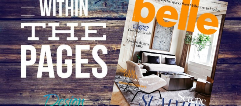 The DL Edit Interior Design Magazines Belle December 2015 January 2016